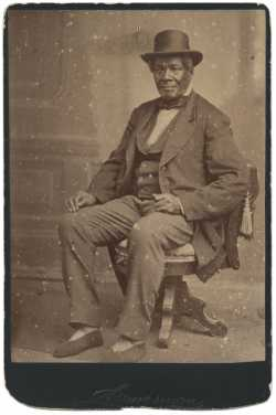 Sepia-colored photograph of Charles Bonga