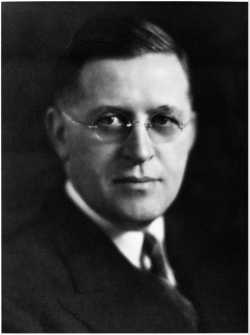 Black and white photograph of Governor Elmer Benson, c.1938.