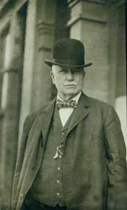 Black and white photograph of John O'Connor during the height of his power in St. Paul, c.1912.