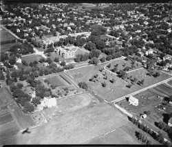 Aerial view of Prairie Home Cemetery