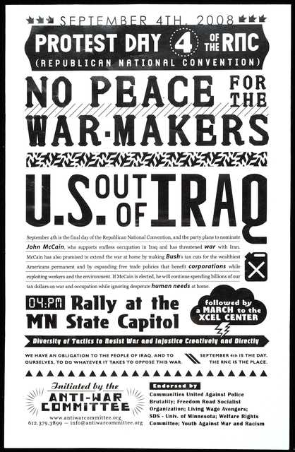 """""""Protest Day 4 of the RNC"""" flyer"""