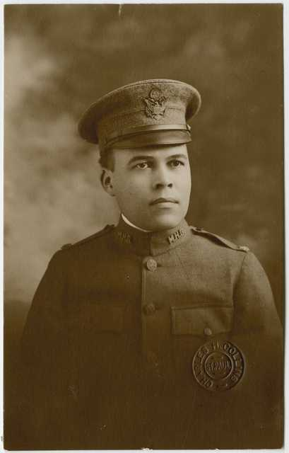 Black and white photograph of Major Jose H. Sherwood, 1918.