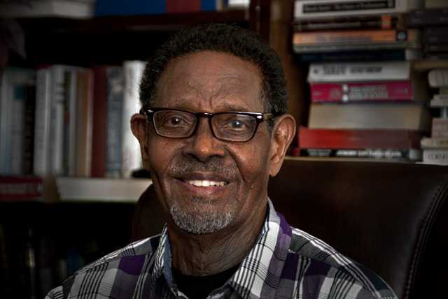 Photograph of Abdirizak Haji Hussein, a  former prime minister of Somalia and a Minneapolis resident until his death in 2014.