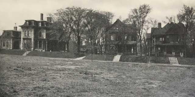 Graham Hall campus, ca. 1909.