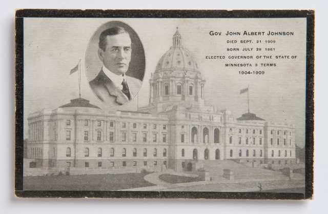 Governor Johnson memorial postcard sample