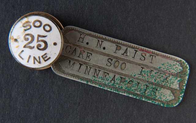 Herbert Paist's Soo Line pin