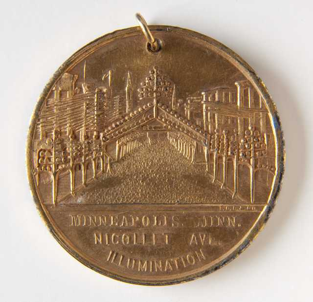 Minneapolis Industrial Exposition medal (back)