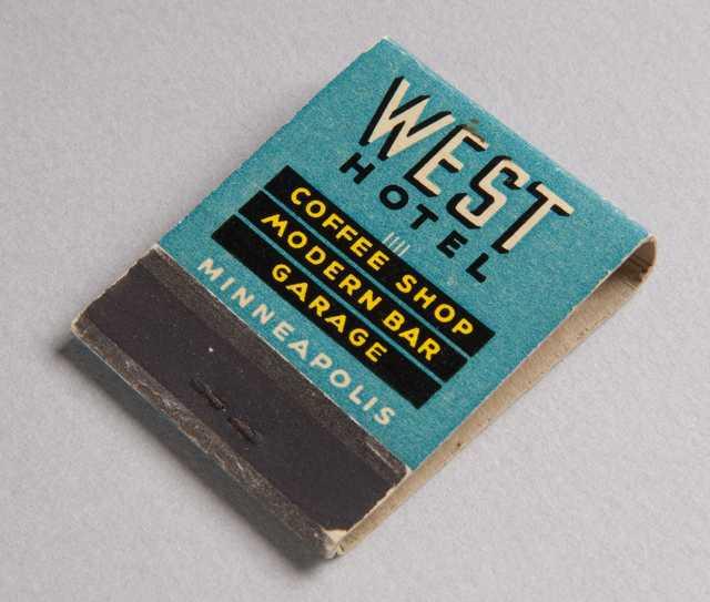 West Hotel matchbook (front)