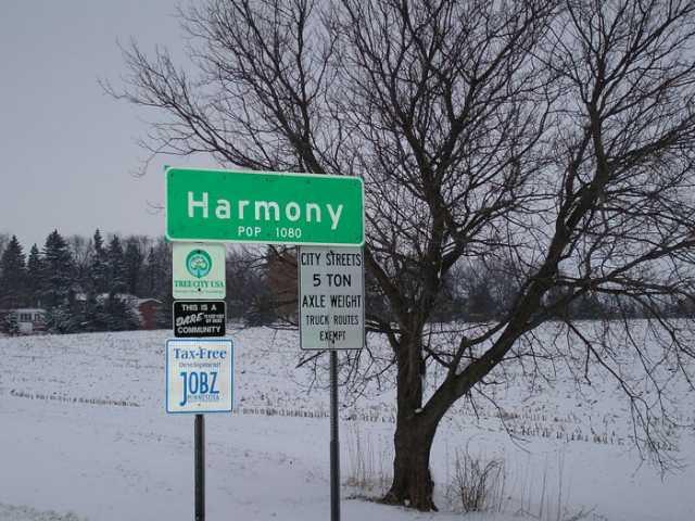 Photograph of Harmony signpost