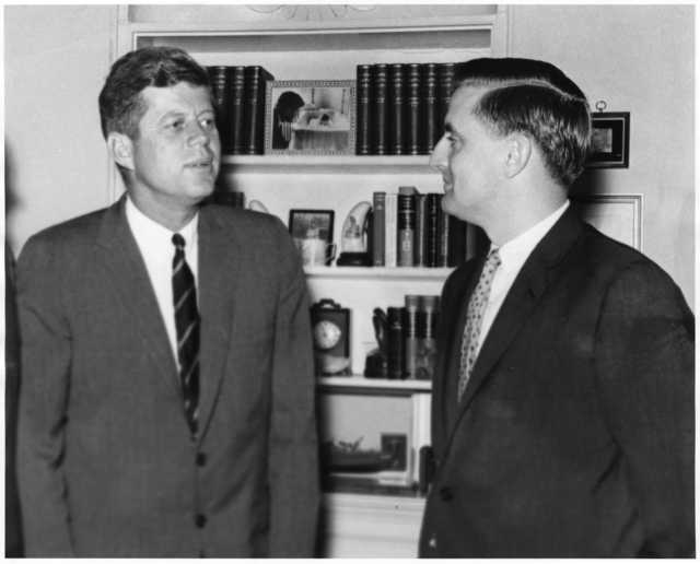 President John F. Kennedy with Minnesota State Attorney General Walter Mondale