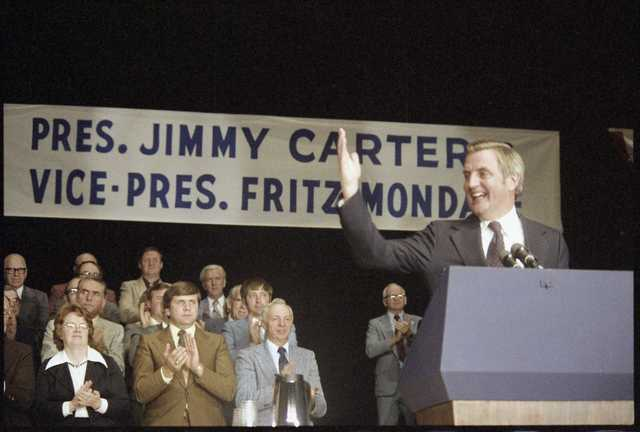 Vice President Walter Mondale in Duluth