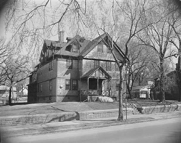 Black and white photograph taken in of the Crispus Attucks Orphanage and Old Folks Home at 469 Collins Street in St. Paul, 1962.