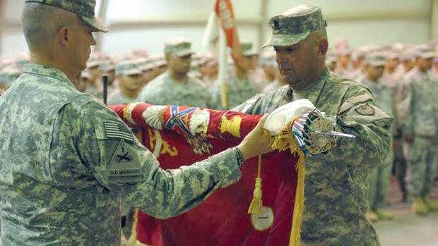 Lt. Col. Scott St. Sauver and Command Sgt. Major Erik Arne