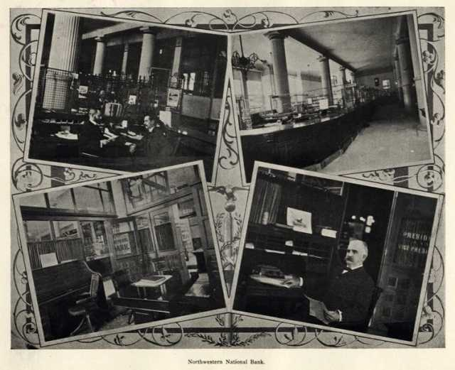 Views of the interior of Northwest National Bank