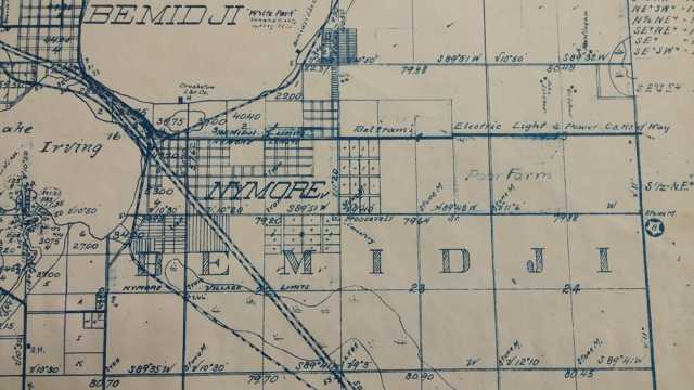Detail of Bemidji plat map