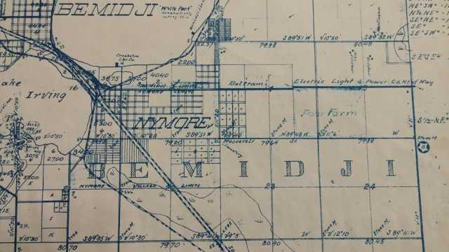 Detail of Bemidji plat map