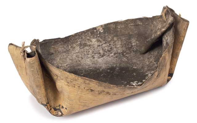 Image of Birchbark sap bucket