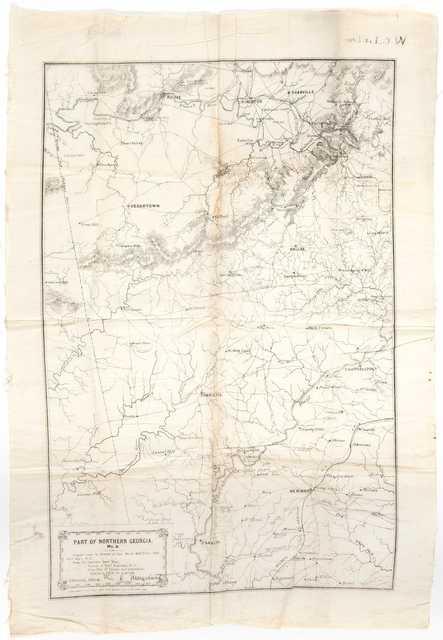 Quartermaster's map of northern Georgia