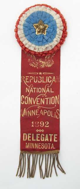 RNC delegate ribbon,1892