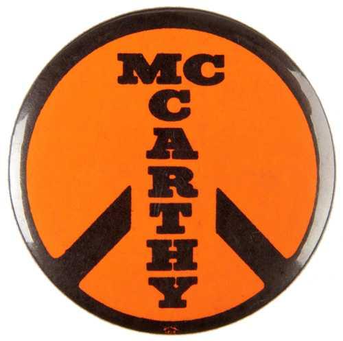Eugene McCarthy anti-war button