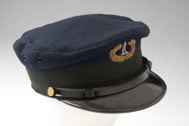 Color image of U.S. Light House Service uniform hat.