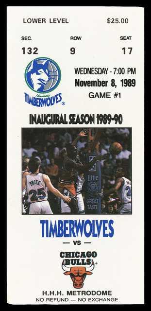 Minnesota Timberwolves ticket