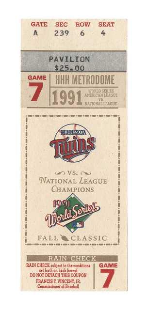 1991 World Series ticket