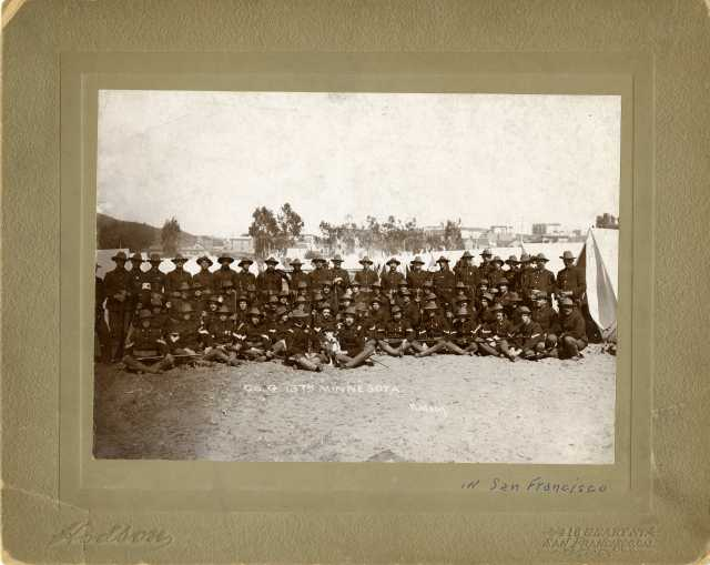 group photograph of soldiers in Red Wing's Company G