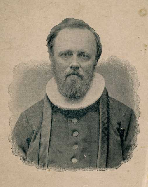 Black and white photograph of Reverend Bernt J. Muus, c.1880.
