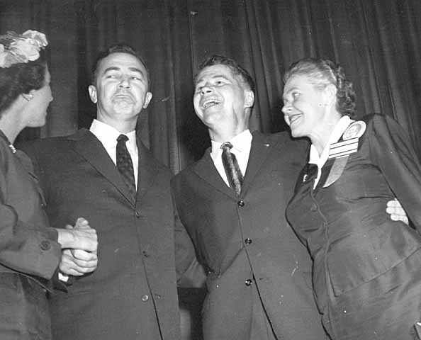 L to R: Eugene McCarthy, Orville Freeman, Eugenie Anderson