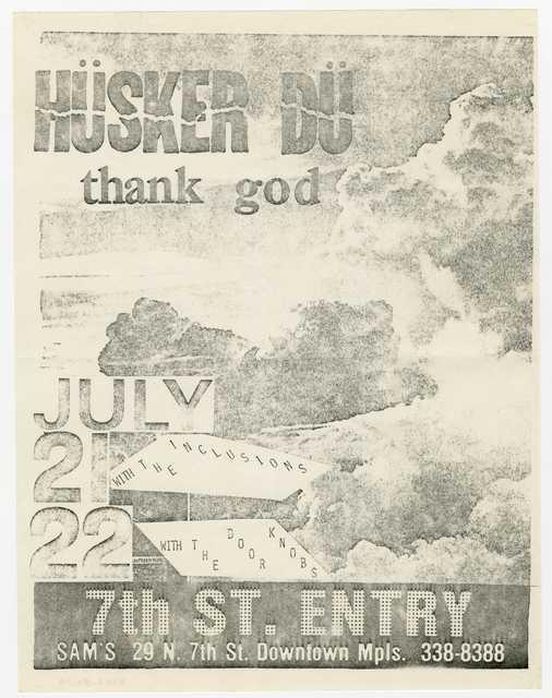 Handbill for Hüsker Dü concert