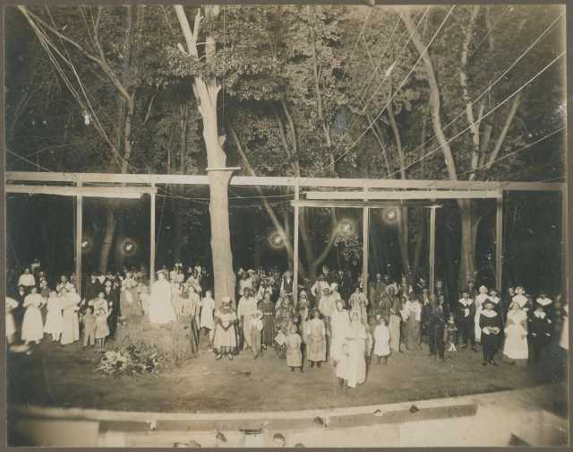 Participants in an agricultural pageant in Anoka County, Minnesota.