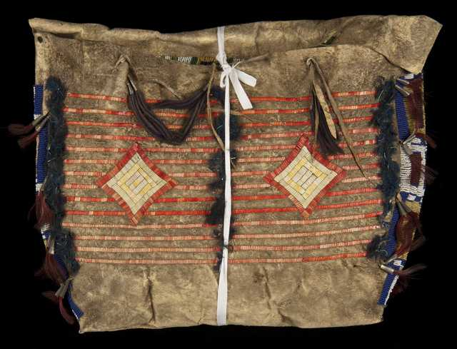 Dakota bag featuring beadwork and quillwork created no earlier than 1856.