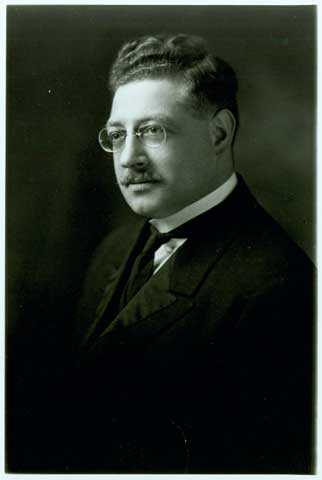 Black and white portrait of C. David Matt, c.1915, Rabbi of Adath Jeshurun Congregation from 1912-1927.