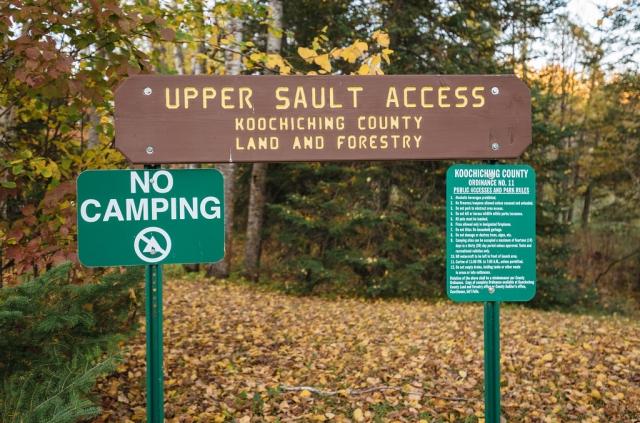 Upper Sault access sign