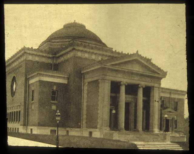 Black-and-white photograph of the third Mount Zion building.