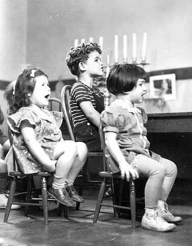 Black and white photograph of children at Adath Jeshurun Nursery School, Minneapolis, 1938.