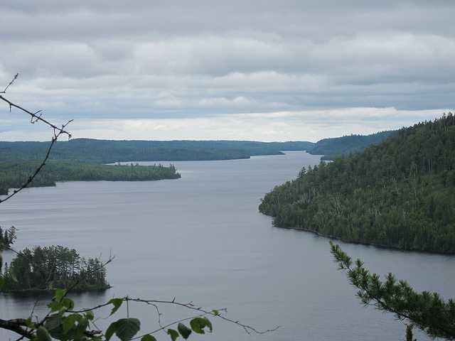 Color image of a view from the Border Route Trail, Boundary Waters Canoe Area Wilderness, 2011. Photograph by Eugene Kim.