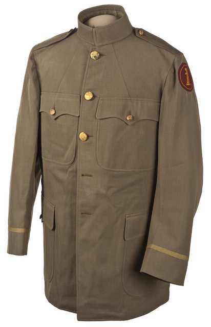 Color image of a Minnesota Home Guard sack coat.