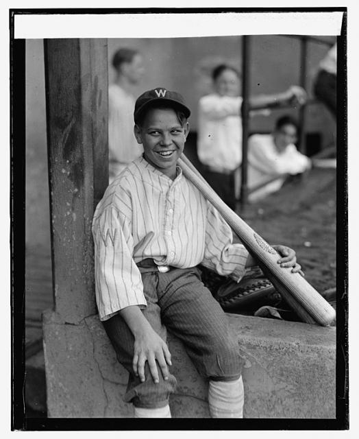 Calvin Griffith as a ball boy