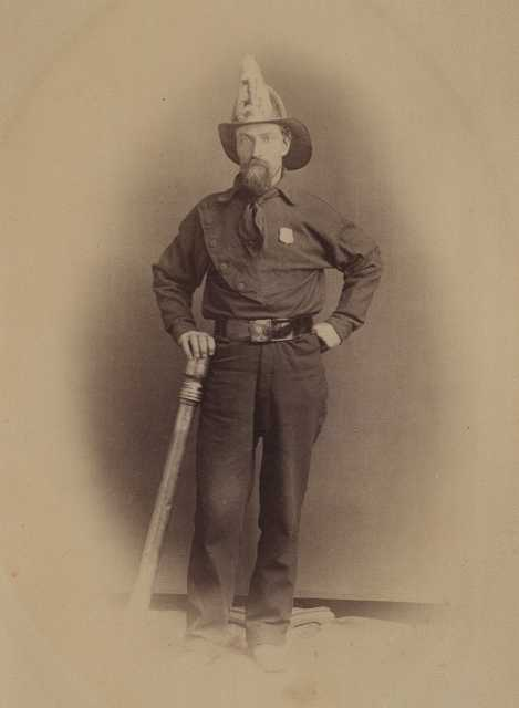Adam Marty in fire fighter uniform.