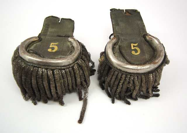 Color image of epaulets worn by Lieutenant Nathan Clark, who served at Fort Snelling, Minnesota, from 1819 to 1827.
