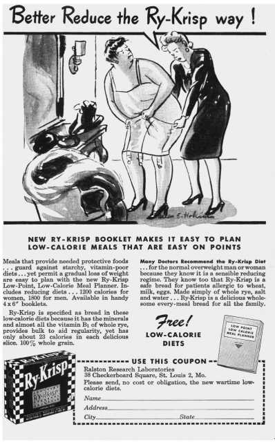 Magazine advertisement from The American Journal of Nursing, March, 1944
