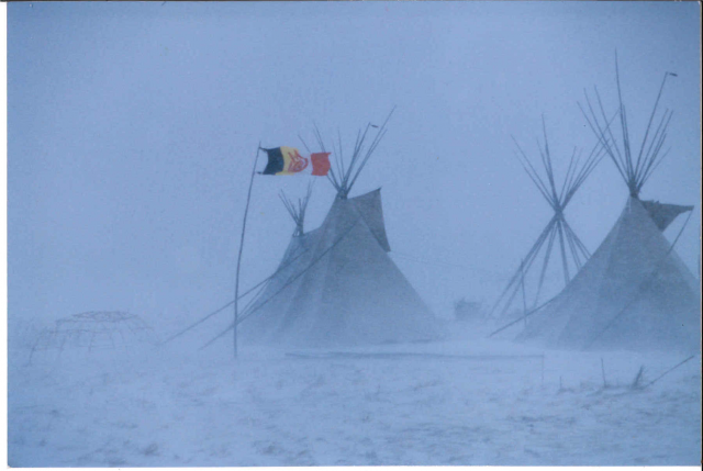 Camp at Wounded Knee
