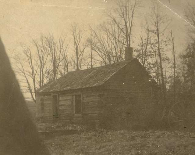 Photograph of the first schoolhouse in Carver County (in Chanhassen Township) c.1855. At the time, the school's teacher was Susan Hazeltine. Photograph Collection, Carver County Historical Society, Waconia.