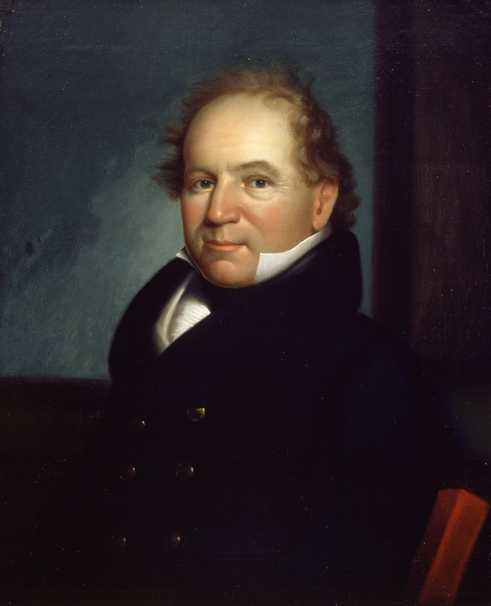 Oil on canvas painting of Colonel Josiah Snelling, c.1818. Artist unknown.