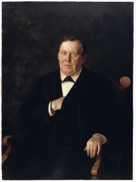 Oil-on-canvas portrait of Ignatius Donnelly, 1891.