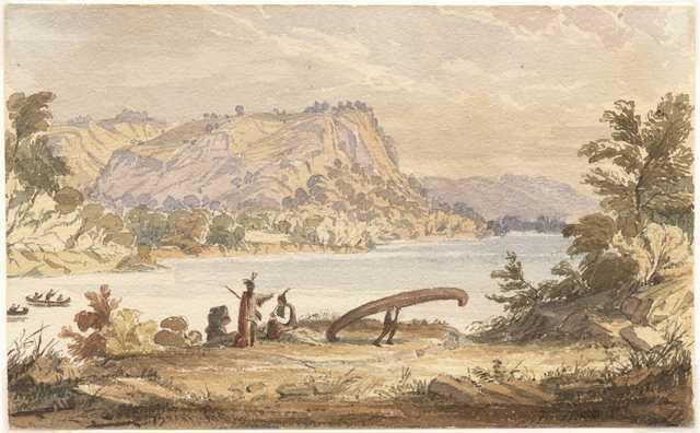 Dakota canoers above Prairie du Chien