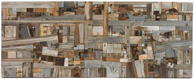 Color image of Untitled wood relief by George Morrison, 1975.