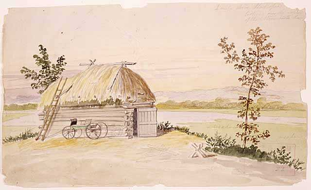 Landscape watercolor on paper by Edwin Whitefield painted, c.1856–1859.